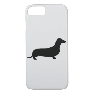 Pick Your Color Background Dachshund Silhouette iPhone 8/7 Case