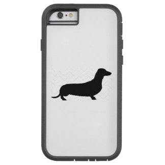 Pick Your Color Chevron Dachshund Silhouette Tough Xtreme iPhone 6 Case
