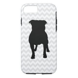 Pick Your Color Chevron Pug Silhouette iPhone 8/7 Case