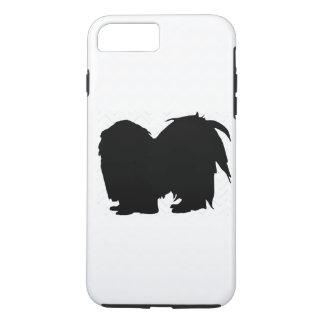 Pick Your Color Chevron Shih Tzu Silhouette iPhone 7 Plus Case
