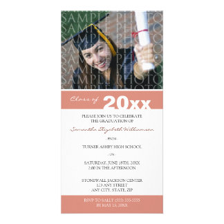 Pick YOUR Color Custom Graduation Announcement Personalised Photo Card