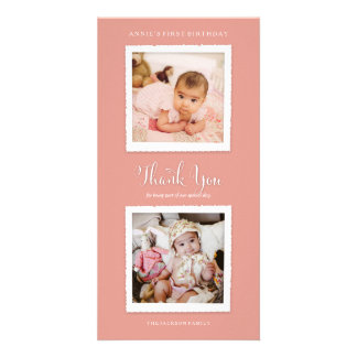 Pick Your Color Photo Thank You Card Customised Photo Card