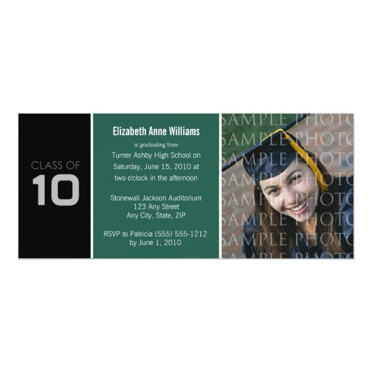 Pick YOUR COLOR Skinny Graduation Invitation