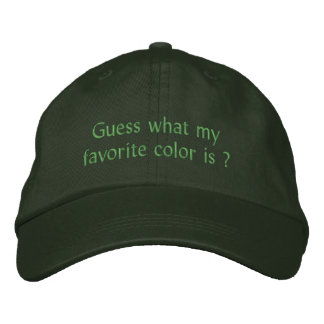 Pick Your Favorite Color Hat Embroidered Baseball Cap