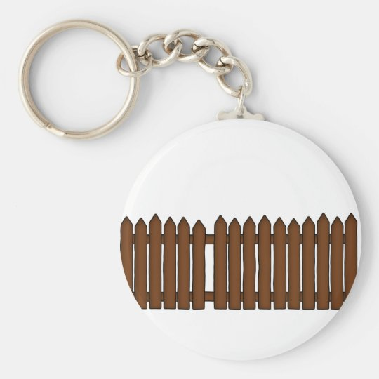 Picket Fence Basic Round Button Key Ring