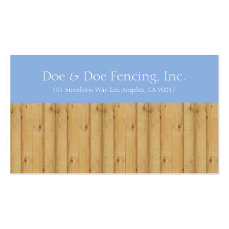Picket Fence/Fencing Contractor Lt Blue Sky Business Card Template