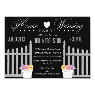Picket Fence HouseWarming Party Invitation