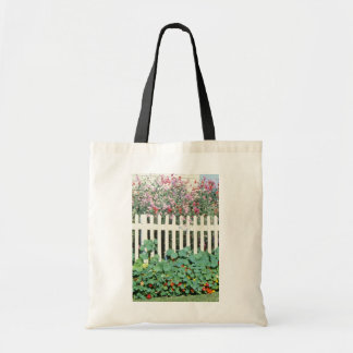 Picket Fence With Sweet Peas And Nasturtium Bags