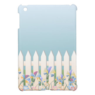 Picket Garden Fence and Flowers iPad Mini Case
