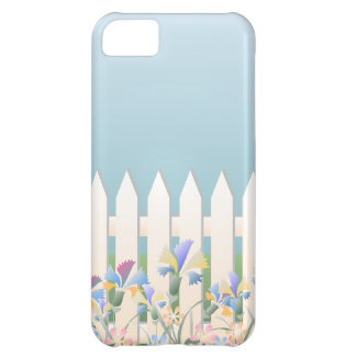 Picket Garden Fence and Flowers iPhone5 Case iPhone 5C Case