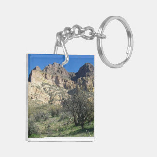 Picket Post MT. Double-Sided Square Acrylic Key Ring