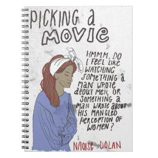 Picking A Movie Spiral Notebook