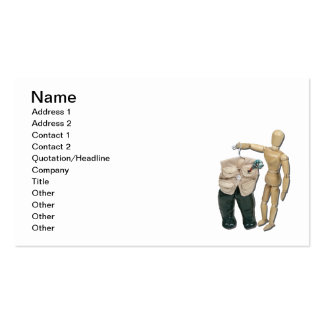 Picking Fishing Vest and Waders Business Card Template