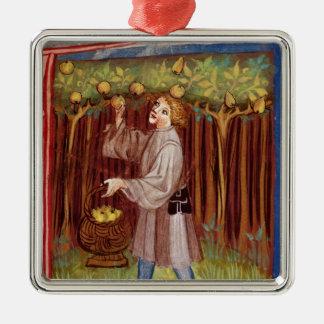 Picking fruit christmas ornament