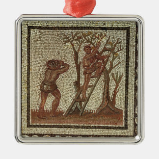 Picking Fruit, Roman Mosaic Christmas Ornament