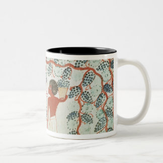Picking grapes, from the Tomb of Nakht Two-Tone Coffee Mug