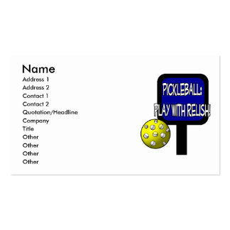 Pickle and a round ball : Play with Relish! Pack Of Standard Business Cards