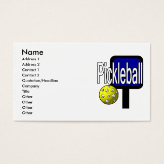 Pickle and ball graphic with paddle and ball business card