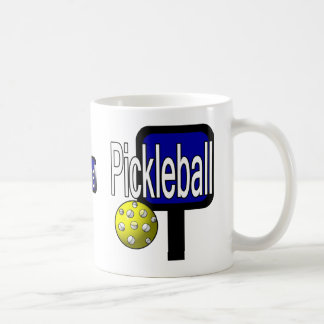 Pickle and ball graphic with paddle and ball mugs