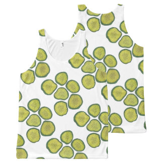Pickle Chips Green Kosher Dill Pickle Chip Print All-Over Print Tank Top
