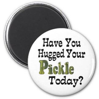 Pickle Hugger 6 Cm Round Magnet