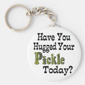 Pickle Hugger Key Ring