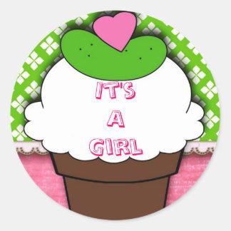 Pickle & IceCream it's a girl; sticker