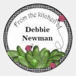 Pickle Jar Stickers Personalised