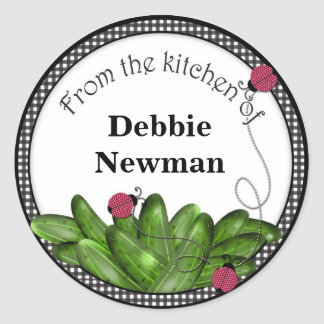 Pickle Jar Stickers Personalized