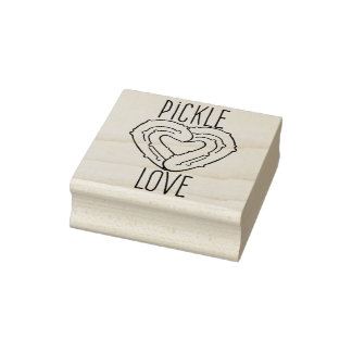 Pickle Love Rubber Stamp