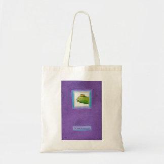Pickle poet eel king weird unique fun original art budget tote bag