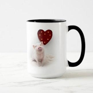 Pickle the Pig Heart Mug