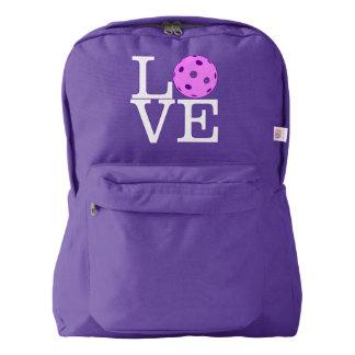 "Pickleball Backpack: ""LOVE"" (Purple) Backpack"