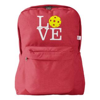 "Pickleball Backpack: ""LOVE"" (Red) Backpack"