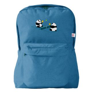 """Pickleball Backpack: """"Pickleball Pandas"""" (Blue) Backpack"""