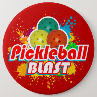 Pickleball Blast 1 Image Options 6 Cm Round Badge