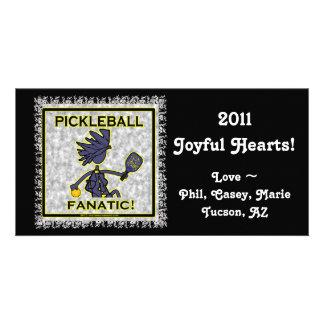 Pickleball Fanatic Customized Photo Card
