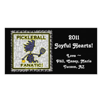 Pickleball Fanatic Gifts T Shirts Picture Card