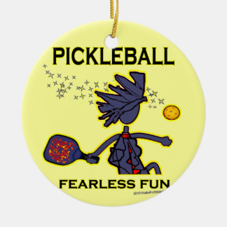 Pickleball Fearless Fun Christmas Tree Ornaments