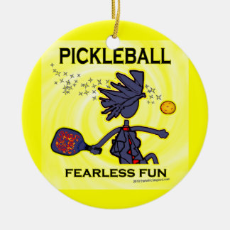 Pickleball Fearless Fun Ornaments