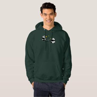 """Pickleball Hoodie: """"Pickleball Pandas"""" (Green) Hoodie"""