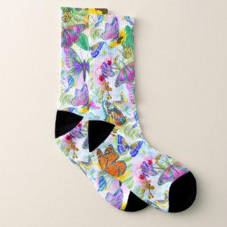 Pickleball Multicolor Print Socks