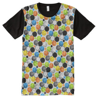 Pickleball print with Polka Dots All-Over Print T-Shirt