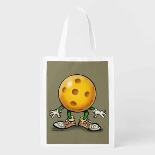 Pickleball Reusable Grocery Bag