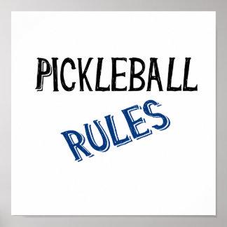 pickleball rules bernice black blue pickle ball poster