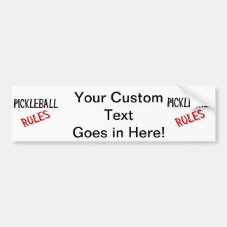 pickleball rules bernice black red bumper sticker