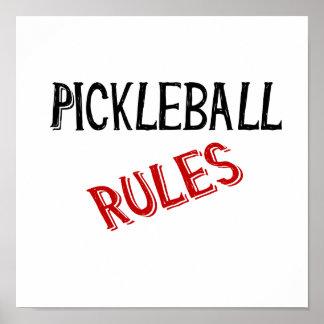 pickleball rules bernice black red poster