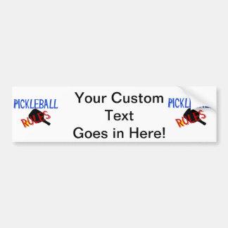 pickleball rules bernice red black blue paddle bumper sticker