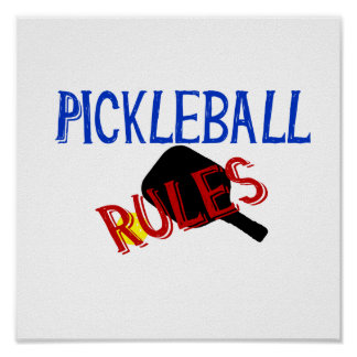 pickleball rules bernice red black blue paddle poster