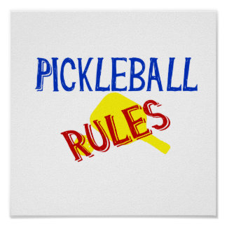 pickleball rules bernice red blue yellow paddle poster